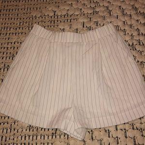 High waisted pin-stripe shorts!
